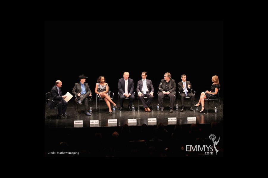 Jim Cramer, John Rich, Star Jones, Donald Trump, Donald Trump Jr., Meat Loaf, interpreter Jack Jason & Marlee Matlin