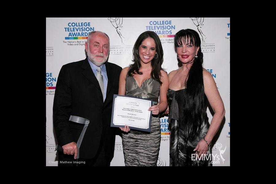 Robert David Hall, Haley Lesavoy and Loreen Arbus at the 31st College Television Awards