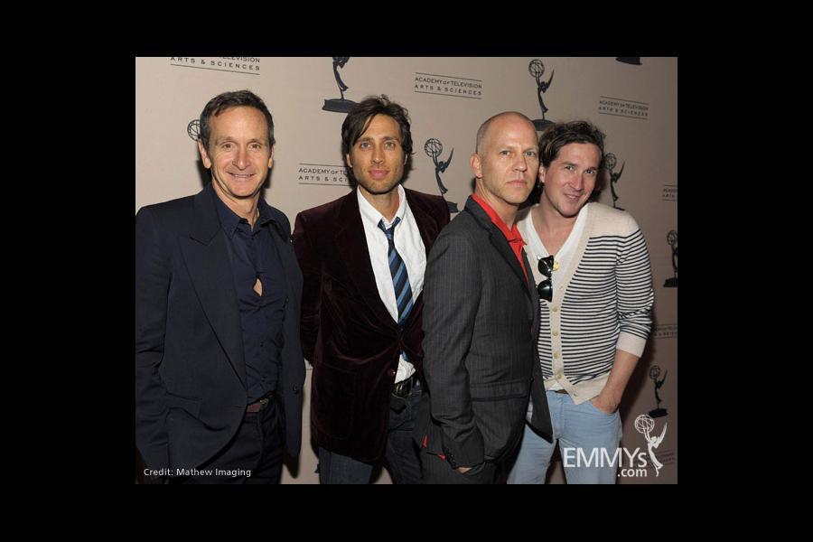 Dante Di Loreto, Brad Falchuk, Ryan Murphy and Ian Brennan at An Evening With Glee