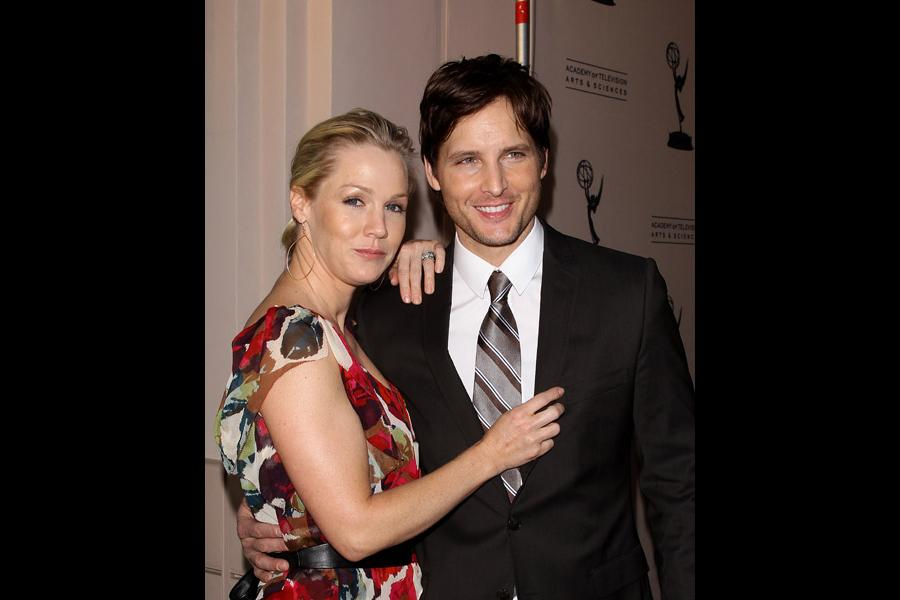 Nurse Jackie castmember Peter Facinelli (r) with wife, actress Jennie Garth