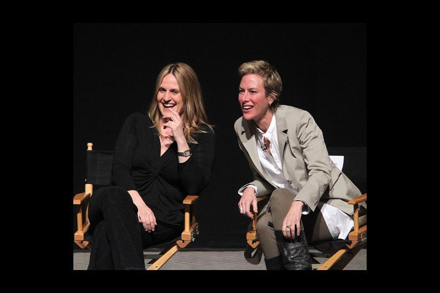 Nurse Jackie producers Linda Wallem and Liz Brixius