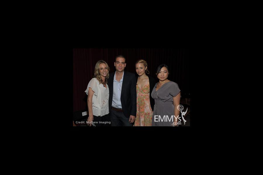 Jessalyn Gilsig, Mark Salling, Dianna Agron and Jenna Ushkowitz at An Evening With Glee