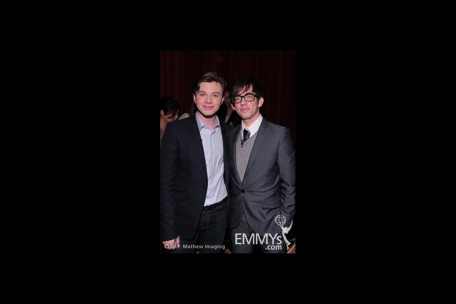 Chris Colfer and Kevin McHale at An Evening With Glee