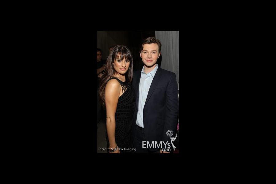 Lea Michele and Chris Colfer at An Evening With Glee