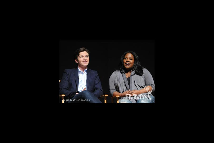 Chris Colfer and Amber Riley at An Evening With Glee