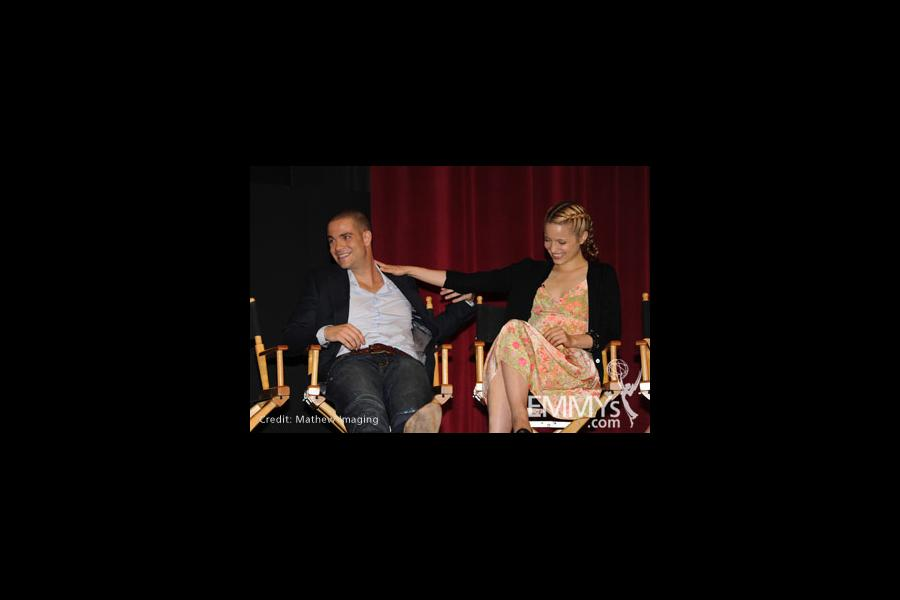 Mark Salling and Dianna Agron at An Evening With Glee