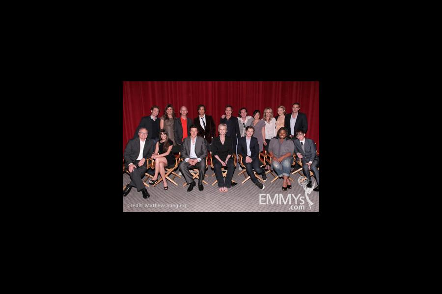 The cast at An Evening With Glee