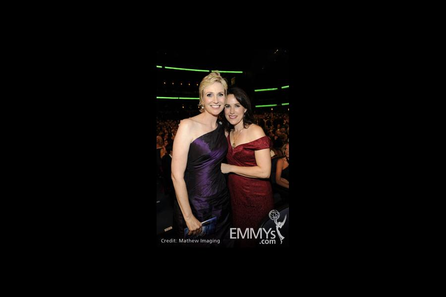 Jane Lynch and her wife at the 62nd Primetime Emmy Awards