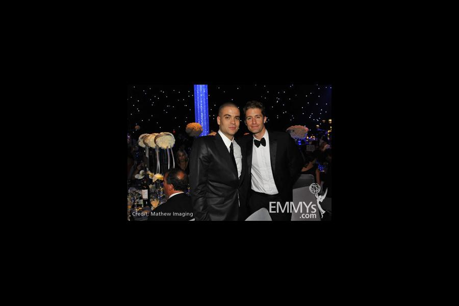 Mark Salling and Matthew Morrison at the 62nd Primetime Emmy Awards