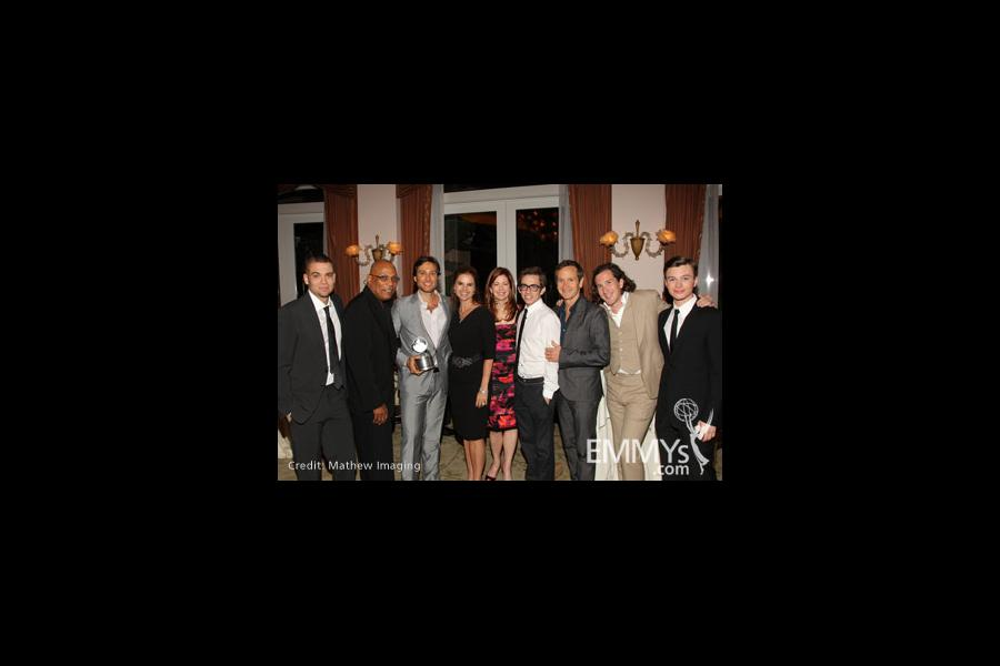 The cast & co-creators of Glee with Maria Shriver and Dana Delany at the 3rd Television Academy Honors