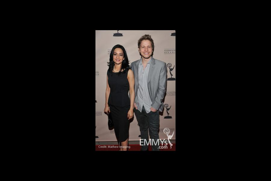 Archie Panjabi and Matt Czuchry at An Evening With The Good Wife