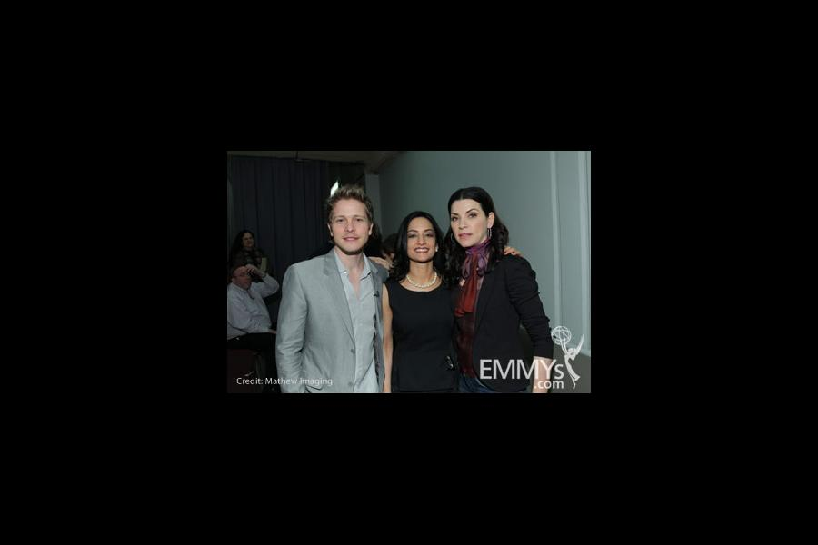 Matt Czuchry, Archie Panjabi and Julianna Margulies at An Evening With The Good Wife