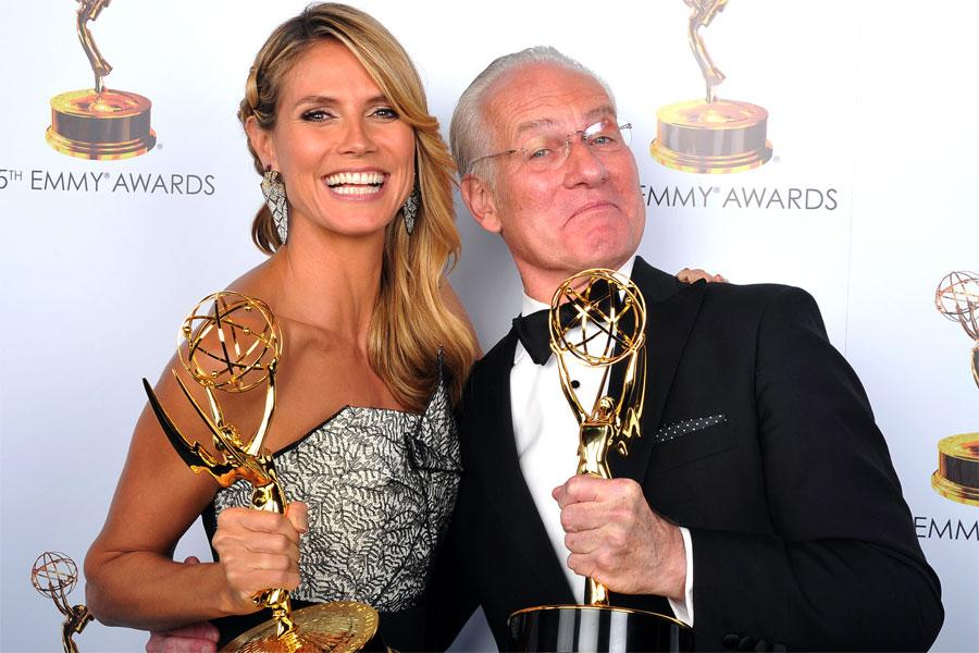 Heidi Klum and Tim Gunn