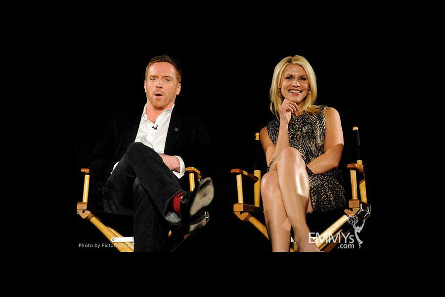 Claire Danes and Damian Lewis participate in an Evening with Homeland