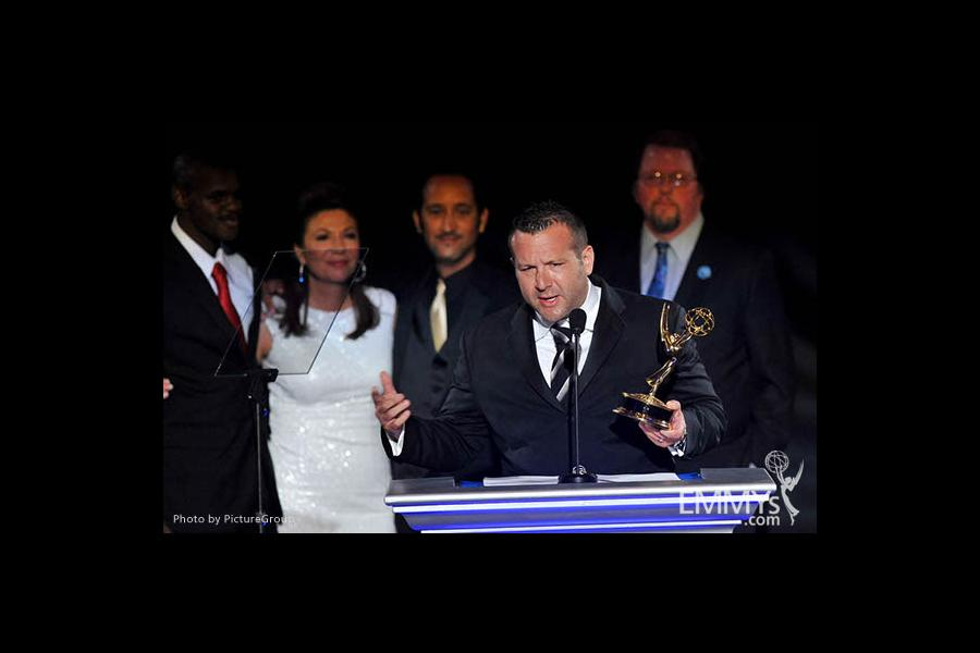 Fred Mamoun at the LA Area Regional Emmys