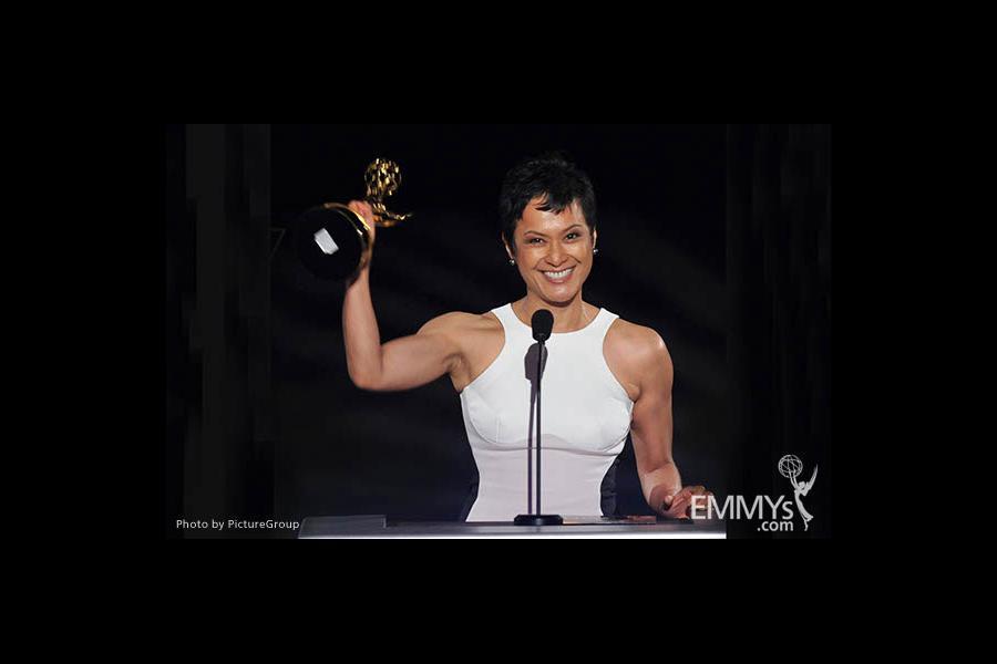 Gayle Galvez at the LA Area Regional Emmys