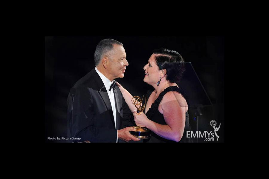 Stephen Solomon, Mary Harris at the LA Area Regional Emmys