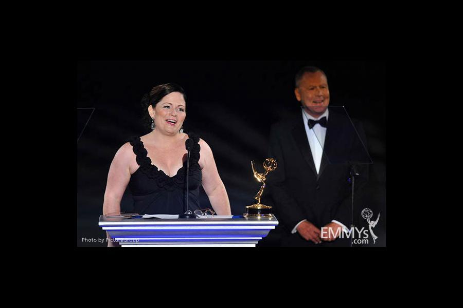 Mary Harris at the LA Area Regional Emmys