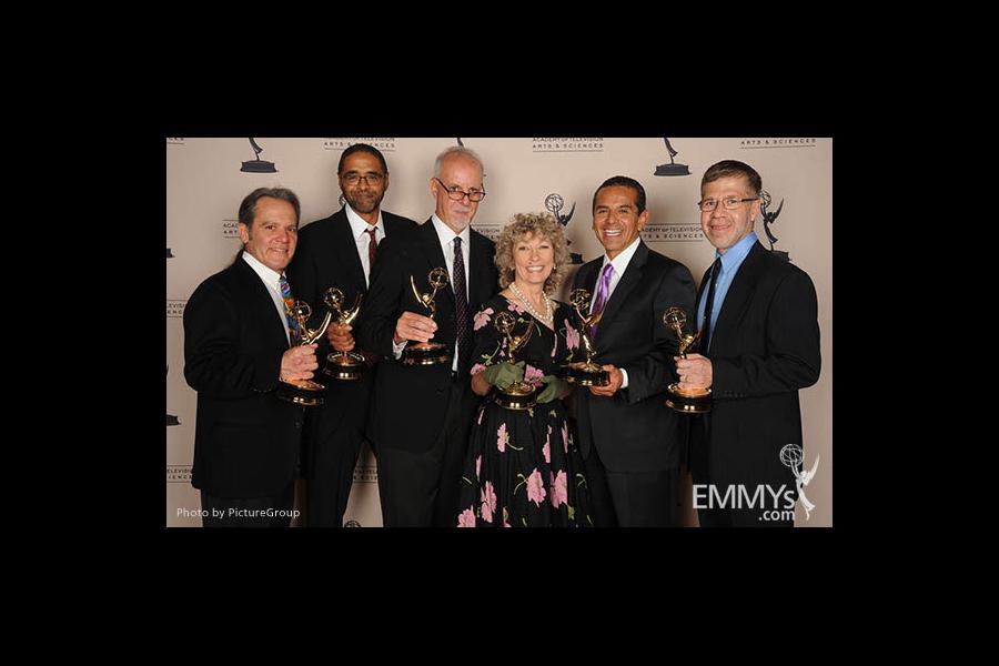 Kenny Gioseffi, Rick Wilkinson, Steve Lopez, Angela Shelley, Antonio Villaraigosa, Alberto Arce at the LA Area Regional Emmys