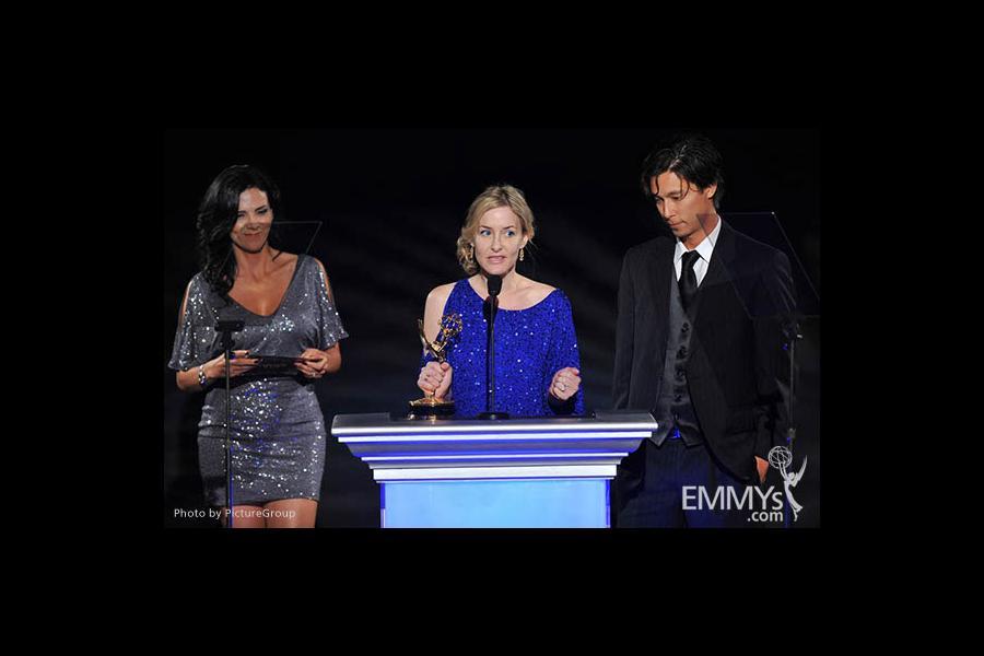 Julee Metz, Eric Michael Wong at the LA Area Regional Emmys