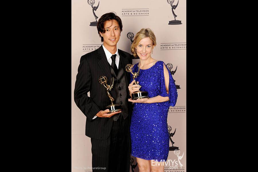 Eric Michaell Wong, Julee Metz at the LA Area Regional Emmys