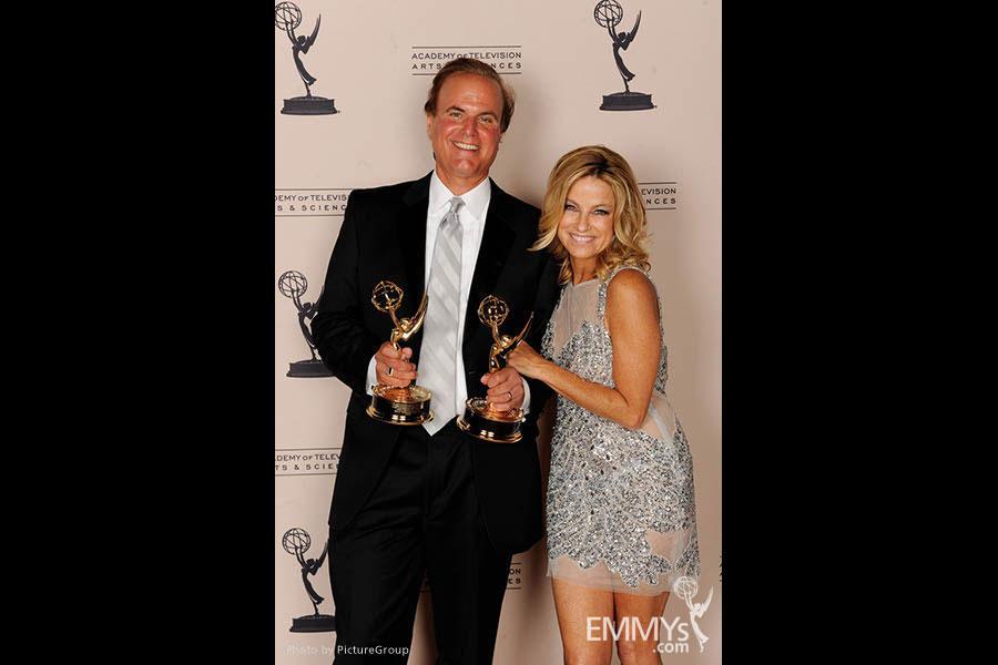 David Goldstein, Dorothy Lucey at the LA Area Regional Emmys