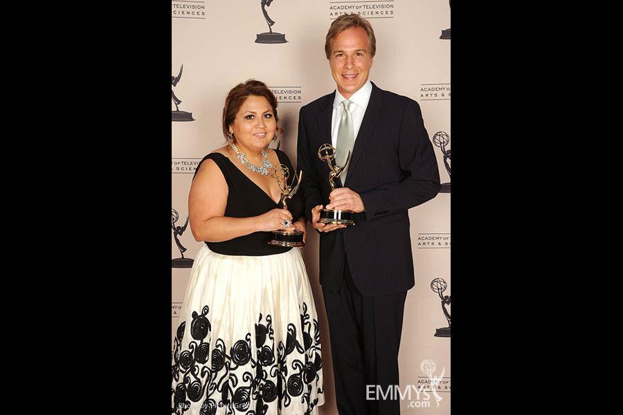 Rebecca Nieto, Robert Kovacik at the LA Area Regional Emmys