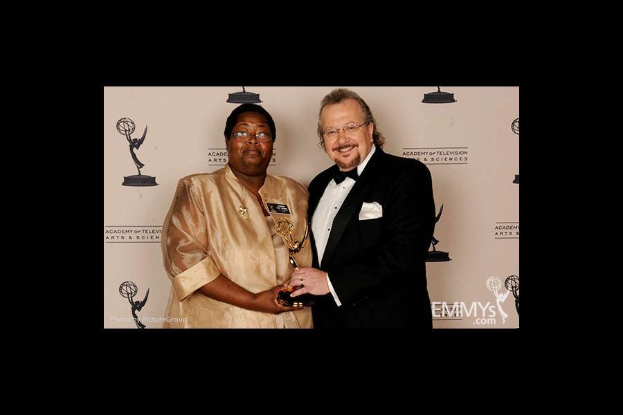 Sabrina Fair Thomas, Barry Kibrick at the LA Area Regional Emmys