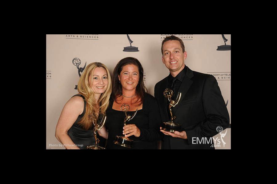 Kerry Hileman, Toni Molle, Bryan Hileman at the LA Area Regional Emmys