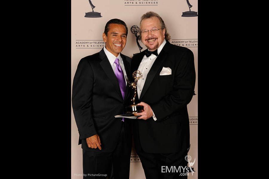 Antonio Villaraigosa, Barry Kibrick at the LA Area Regional Emmys