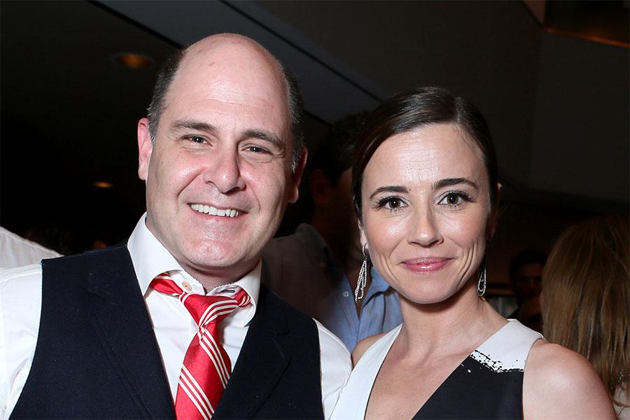 Matthew Weiner and Linda Cardellini