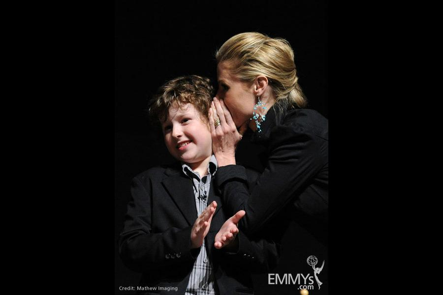 Modern Family - Nolan Gould and Julie Bowen