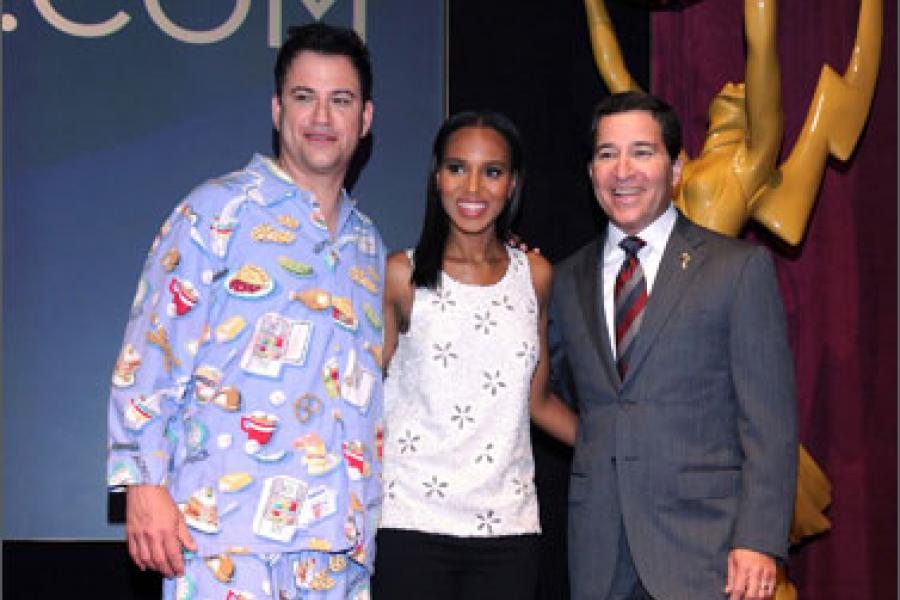 Jimmy Kimmel, Kerry Washington and Bruce Rosenblum announce the 64th Primetime Emmy Awards Nominations