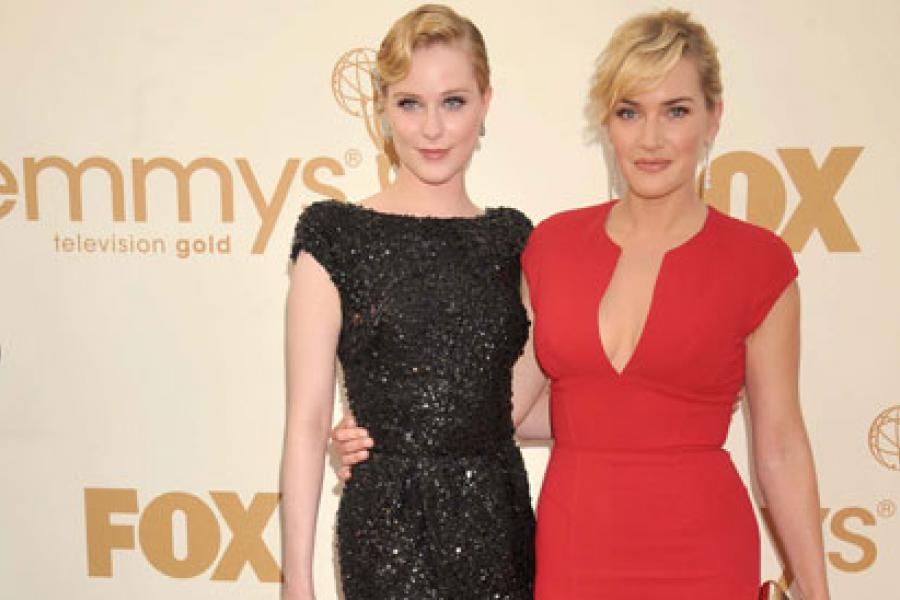 Evan Rachel Wood and Kate Winslet arrive at the Academy of Television Arts & Sciences 63rd Primetime Emmy Awards