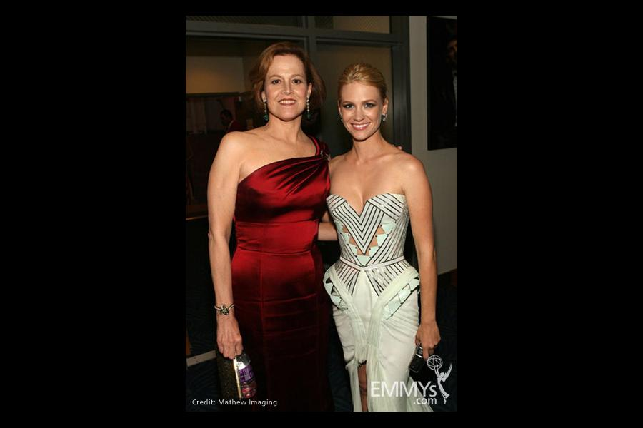 Actresses Sigourney Weaver and January Jones