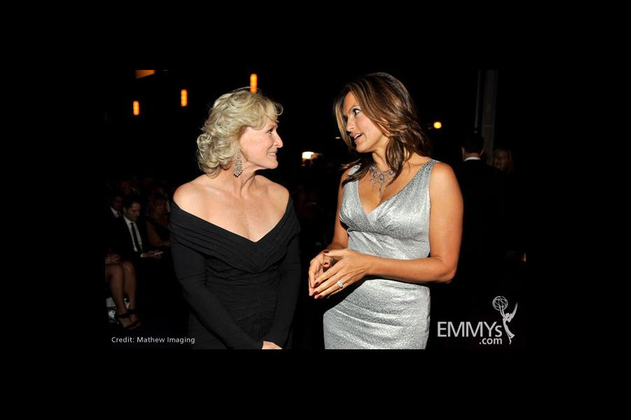 Actresses Glenn Close and Mariska Hargitay