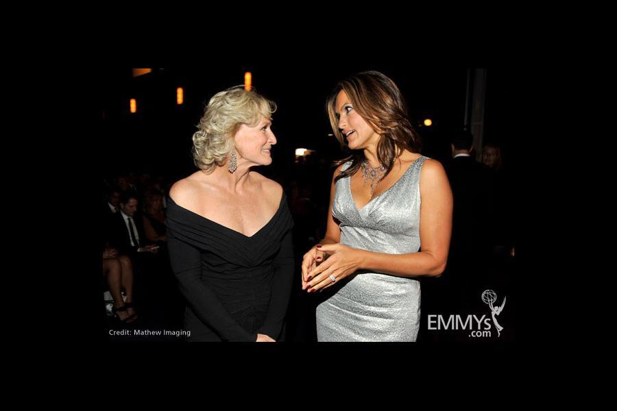 Actresses Glenn Close and Mariska Hargitay