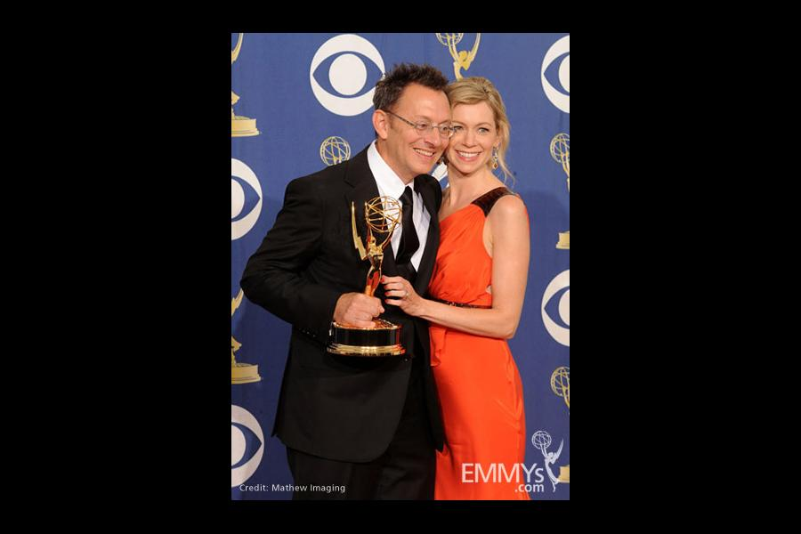 Actors Michael Emerson and Carrie Preston