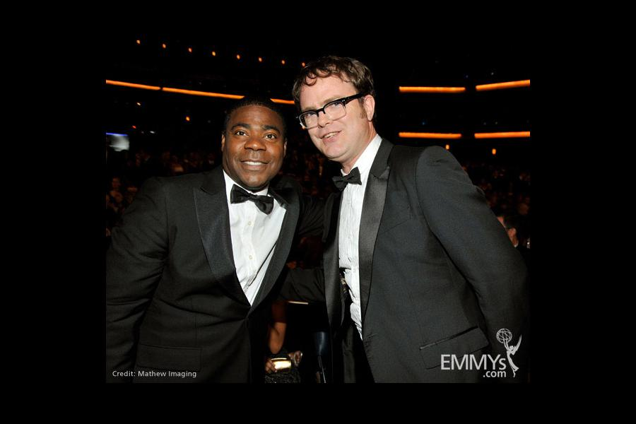 Actors Tracy Morgan and Rainn Wilson