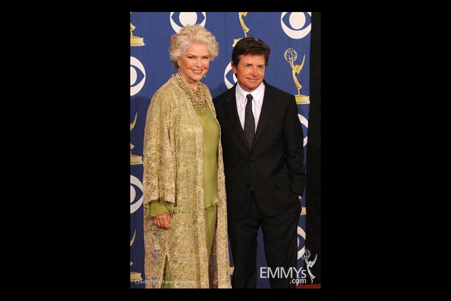 Actors Ellen Burstyn and Michael J. Fox