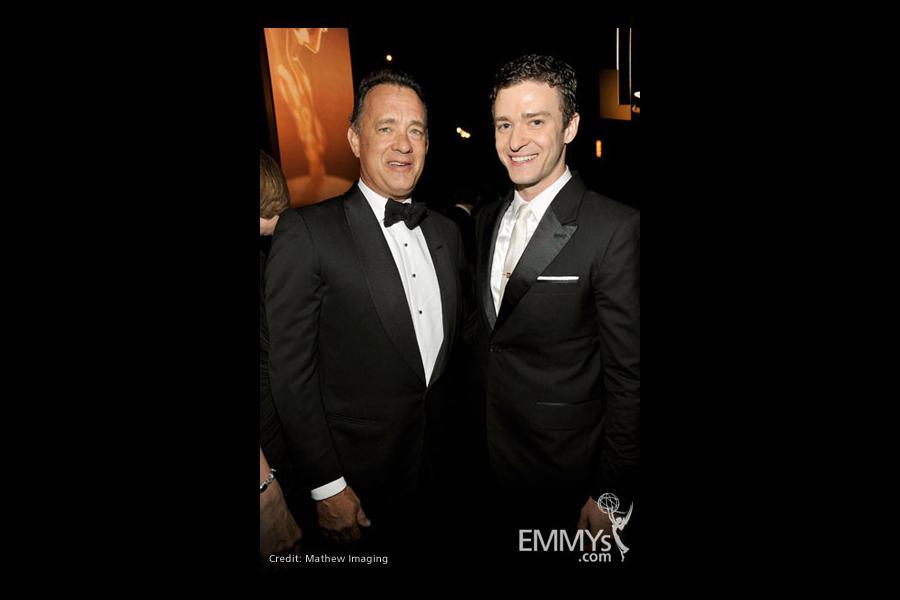 Actors Tom Hanks and Justin Timberlake
