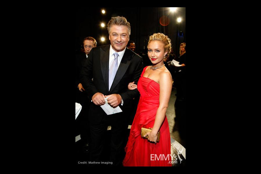 Actors Alec Baldwin and Hayden Panettiere