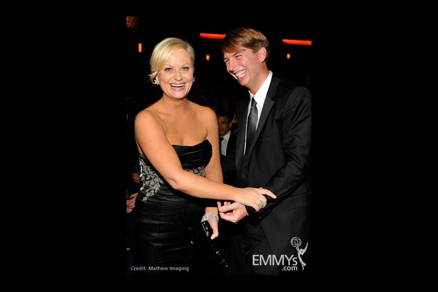 Actors Amy Poehler and Jack McBrayer