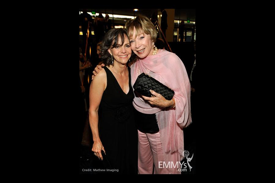 Actresses Sally Field and Shirley MacLaine