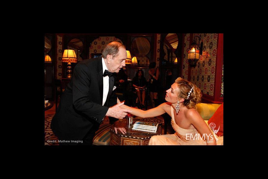 Actors Bob Newhart and Cat Deeley