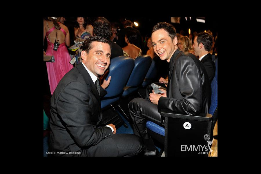 Actors Steve Carell and Jim Parsons