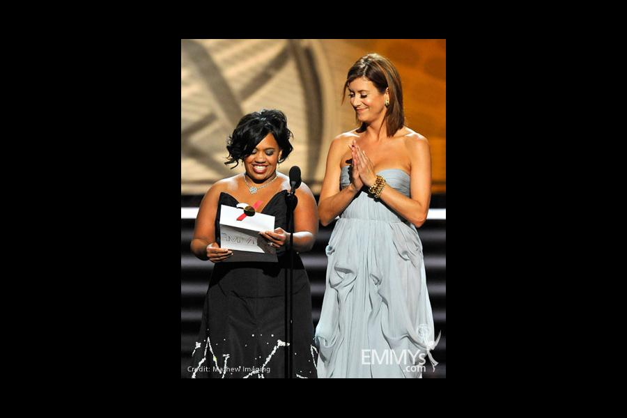 Presenters Chandra Wilson and Kate Walsh