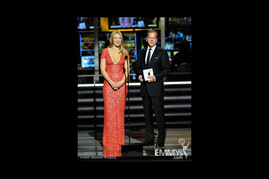 Presenters Anna Torv and Kiefer Sutherland