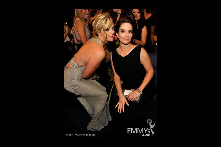Actresses Jane Krakowski and Tina Fey