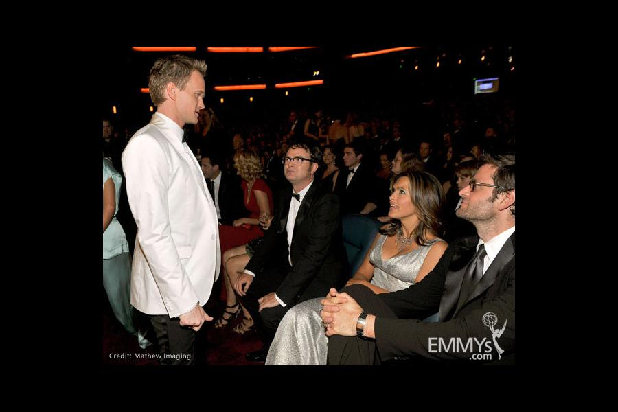 Actors Neil Patrick Harris, Rainn Wilson and Mariska Hargitay